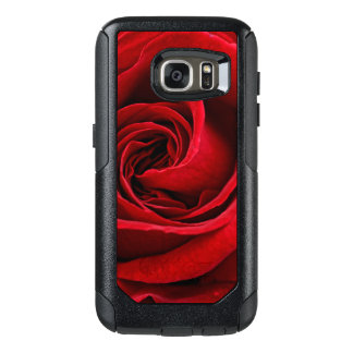 Bright Red Rose Close Up OtterBox Samsung Galaxy S7 Case