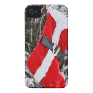 Bright Red Santa Stocking iPhone 4 Case