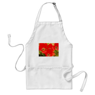 Bright Red Tulips Standard Apron