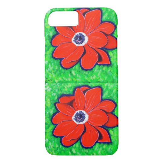 Bright Red Windflower iPhone 8/7 Case