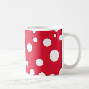 Red White Polka Dots Coffee & Travel Mugs | Zazzle CA