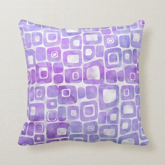 Bright Retro Mid Century Modern Rounded Geometric Throw Pillow