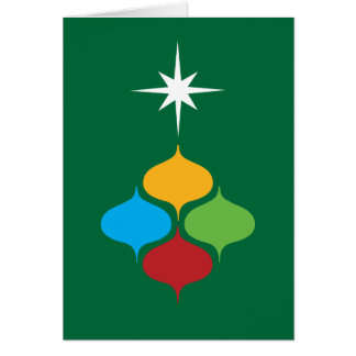 Bright retro shapes holiday card