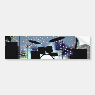 Bright Rock Band Stage Bumper Sticker