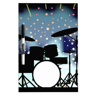 Bright Rock Band Stage Dry Erase Board