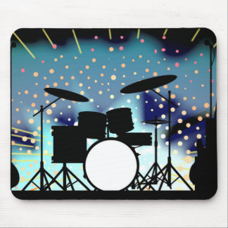 Bright Rock Band Stage Mouse Pad