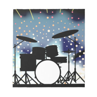 Bright Rock Band Stage Notepad