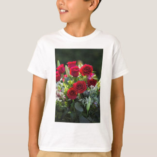 Bright Romantic Red Rose Bouquet T-Shirt