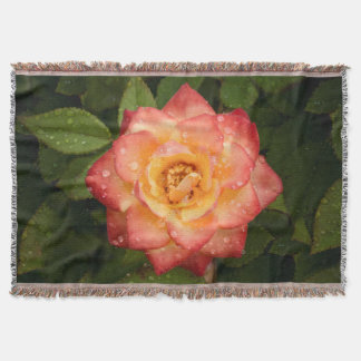 Bright Rose Throw Blanket