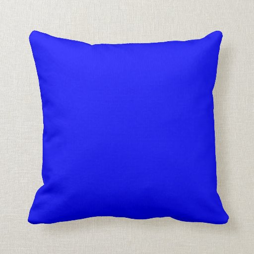 Bright Royal Blue Solid Trend Color Background Pillow