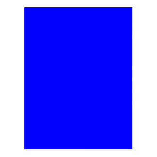 Bright Royal Blue Solid Trend Color Background Postcard