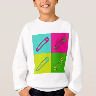 Bright safety pins modern art sweatshirt