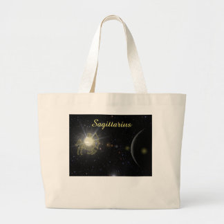 Bright Sagittarius Large Tote Bag