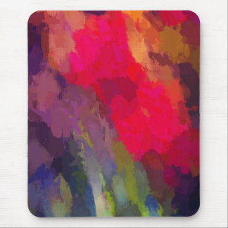 Bright Scarlet Red Tulip Flowers Abstract Art Mouse Pad