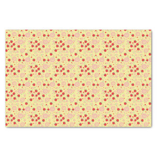 Bright Scattered Strawberry Swirl Pattern Tissue Paper