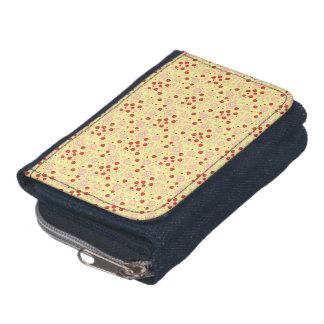 Bright Scattered Strawberry Swirl Pattern Wallet