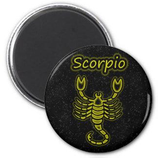 Bright Scorpio 2 Inch Round Magnet