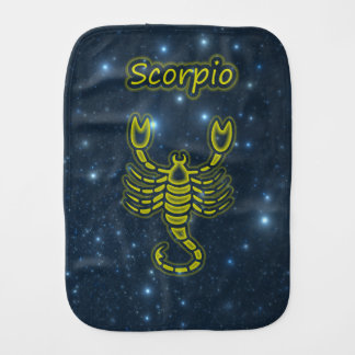Bright Scorpio Burp Cloth