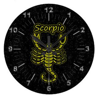 Bright Scorpio Large Clock