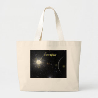 Bright Scorpio Large Tote Bag
