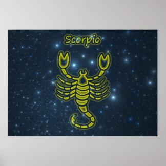 Bright Scorpio Poster