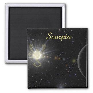 Bright Scorpio Square Magnet