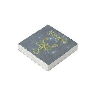 Bright Scorpio Stone Magnets