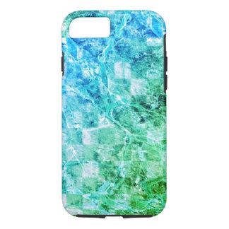 Bright Sea Blue Green Modern Marble iPhone 7 Case