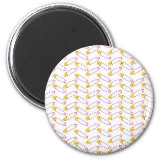 Bright sewing pins 2 inch round magnet