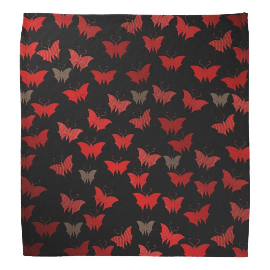bright, shiny, butterflies, exclusive + pattern, bandana