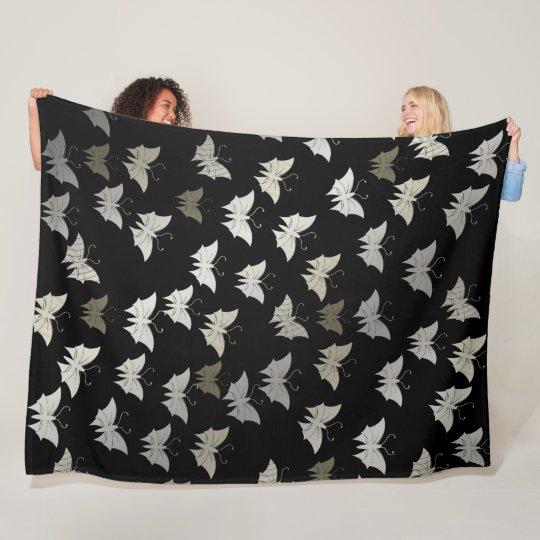 bright, shiny, butterflies, exclusive + pattern, fleece blanket