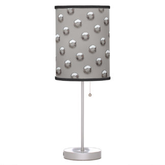 Bright Shiny Metallic Rounded Bumps Table Lamp