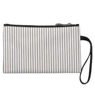Bright Silver Thistle Cabana Stripe Pattern Wristlet Clutch