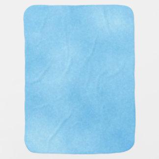 Bright Sky Blue Baby Blanket