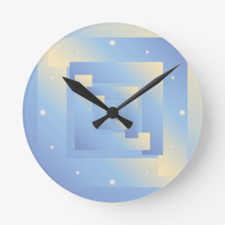 bright sky colors round clock