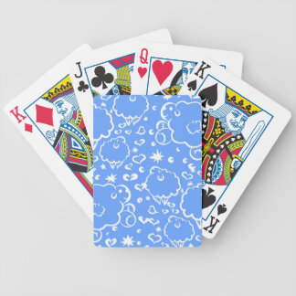 Bright sky sheep dream bicycle playing cards