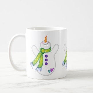Bright Snowmen LET IT SNOW! Coffee Mug