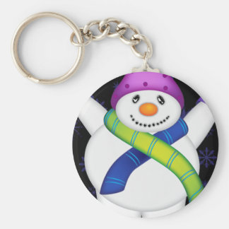 Bright Snowmen LET IT SNOW! Keychain