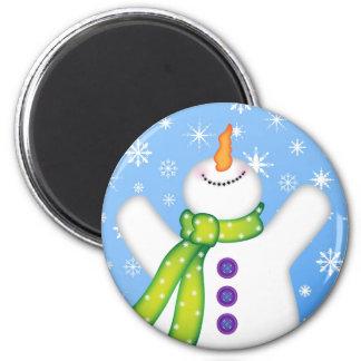 Bright Snowmen LET IT SNOW! Magnet