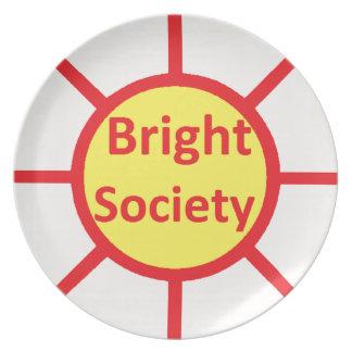 Bright Society Plate