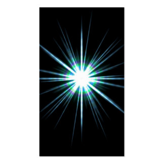 Bright Solar Flare Burst Business Card