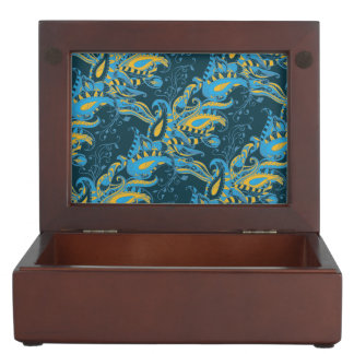 Bright sophisticated paisley floral pattern memory box