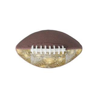 Bright sparkling golden sequin glitters disco ball
