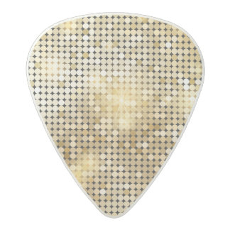 Bright sparkling golden sequin glitters disco ball acetal guitar pick