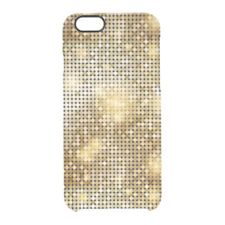 Bright sparkling golden sequin glitters disco ball clear iPhone 6/6S case