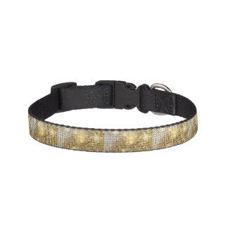 Bright sparkling golden sequin glitters disco ball pet collar