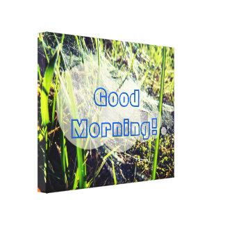 Bright Spiderweb | Good Morning Canvas Print