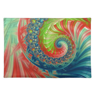 Bright Spiral Placemat