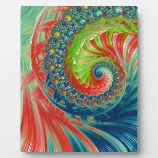 Bright Spiral Plaque