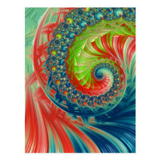 Bright Spiral Postcard